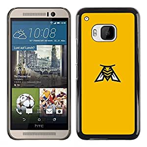 Be Good Phone Accessory // Dura Cáscara cubierta Protectora Caso Carcasa Funda de Protección para HTC One M9 // yellow Bee