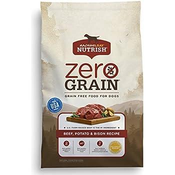 Rachael Ray Nutrish Zero Grain Natural Dry Dog Food, Grain Free, Beef, Potato, Bison, 11 lbs