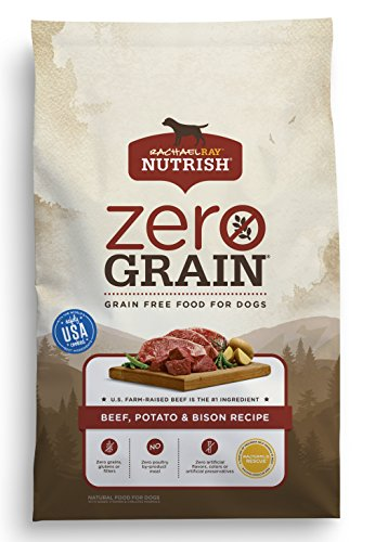Rachael Ray Nutrish Zero Grain Natural Dry Dog Food, Beef, Potato & Bison Grain Free Recipe, 22 lbs