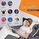 Lunix 4pcs Orthopedic Bed Wedge Pillow Set, Post