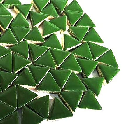 Craft Carreaux de mosa/ïque en c/éramique /émaill/ée Triangles/ /pesto