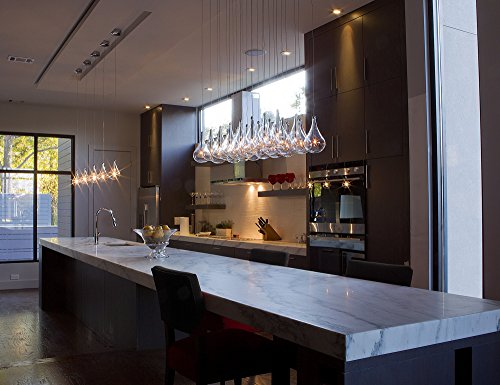 ET2 E20118-18 Larmes 24-Light Linear Pendant, Polished Chrome Finish, Clear Glass, 12V G4 Xenon Bulb, 50W Max., Dry Safety Rated, Shade Material, 1150 Rated Lumens by ET2 Lighting (Image #2)