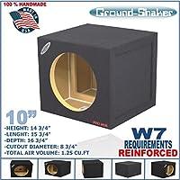 JL W7 10 Single Sealed Sub Box MDF Reinforced Subwoofer Enclosure