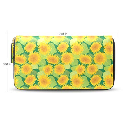 Women Sunflower Decor Green...