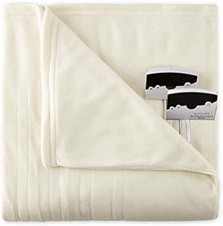 Biddeford Comfort Knit Fleece Sherpa Electric Heated Blanket All Sizes /& Colors