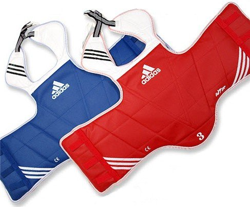 ADIDAS NEW REVERSIBLE CHEST GUARD - 4 = large by adidas