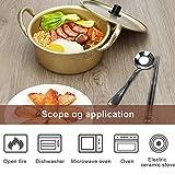 Ahier Ramen Pot, Korean Ramen Cooking Pot With Lid