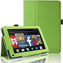 Kindle Fire 1st & 2nd Generation Cover Case - HOTCOOL Slim New PU Leather Case For Amazon Original Kindle Fire 2011 (Previous Generation - 1st) And Kindle Fire 2012 (Previous Generation - 2nd) Tablet(Will not fit HD or HDX models), Green