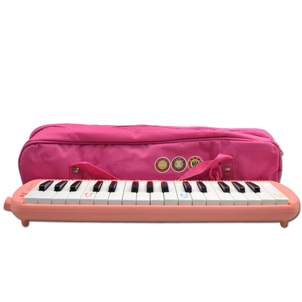 Melodica Musical Instrument 32 Keys Kids Keyboard Piano Style Melodica With Portable Carrying Case Kids Musical Instrument Gift Toys For Music Lovers Beginners Double 2 Mouthpieces Tube Sets for Music
