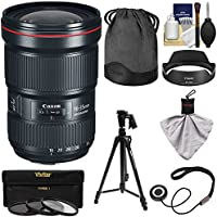 Canon EF 16-35mm f/2.8L III USM Zoom Lens with 3 UV/CPL/ND8 Filters + Pistol Grip Tripod + Kit