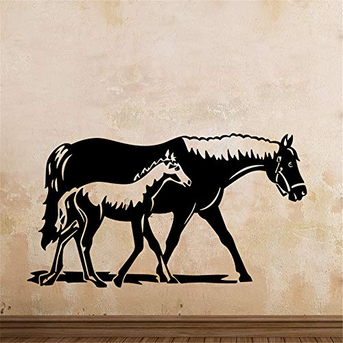 Jifer Vinyl Wall Sticker Mural Bible Letter Quotes Horse for Living Room Bedroom ()