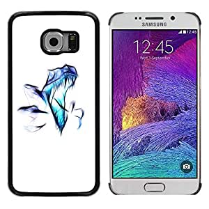 Caucho caso de Shell duro de la cubierta de accesorios de protección BY RAYDREAMMM - Samsung Galaxy S6 EDGE SM-G925 - Raptor Airbrush
