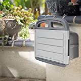 XtremepowerUS Garden Water Hose Reel Hanger Storage Box Cabinet with Shelf Compartment Hose Reel up to 150' ft of Garden Hose