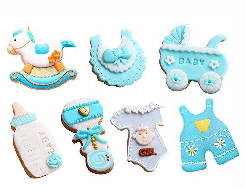 JUMUU Baby Shower Theme Buggy Rocking Horse Bottle Cookie Cutter (7 Piece (Summer Baby Shower Themes)