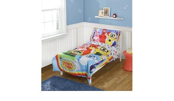 Amazon Yo Gabba Gabba Toddler Bedding Set Nursery Decor Adorable Yo Gabba Gabba Bedroom Decor
