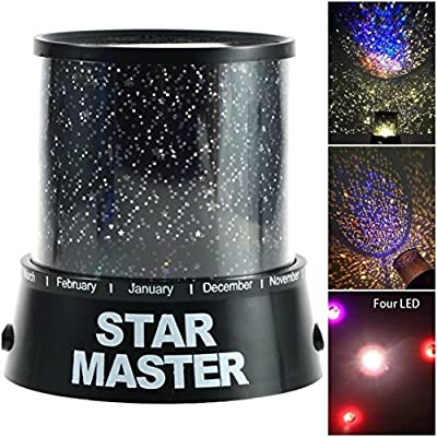 1 Pcs Wonderful Popular Nightlight LED Night Lamp Kids Star Sky Romatic Gift Color Black