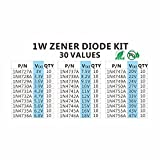 Chanzon 1W Zener Diode Assorted Kit