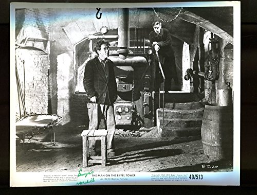 MOVIE PHOTO: MAN ON THE EIFFEL TOWER-BURGESS MEREDITH-CELLAR SCENE VG/FN