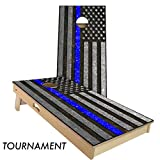 Police Thin Blue line 4' x 2' tournament bean bag toss
