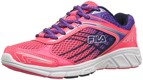 Price comparison product image Fila Girls' Narrow Escape Skate Shoe, Dark Pink Electric Purple/Fila Navy, 4 M US Big Kid