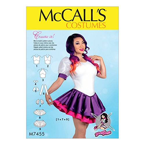 Puff Sleeve Pattern - McCall Patterns M7455A50 Misses' Skirted Leotards with Mix-and-Match Design Variations