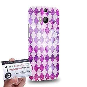 Case88 [HTC One M8] 3D impresa Carcasa/Funda dura para & Tarjeta de garantía - Art Aztec Design Galaxy Overlay Pink Mix