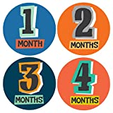 Color Cutout Monthly Stickers - Baby Girl - Months 1-12