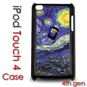 IPod Touch 4 4th gen Touch Plastic Case - Dr Who Tardis Starry Night Painting