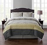 VCNY Home Adela 8pc Comforter Set, King, Yellow