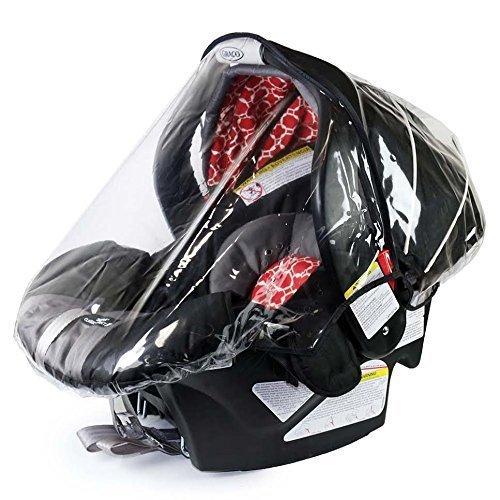 Rainbow Design Infant Carrier Car Seat Rain & Weather Plastic Shield Cover Rainbow Design USA 280077