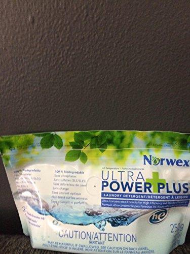 NORWEX/ ULTRA POWER PLUS-LAUNDRY DETERGENT/H.E/HIGH EFFICIENCY/&/ STANDARD LOADS-250/G..NET WT./0.55LB