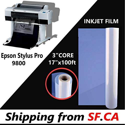 Waterproof Inkjet Transparency Positive Film for EPSON (17''X100ft for pro 9800)