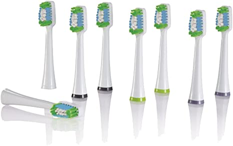Nevadent® 8 Replacement Sonic Toothbrush Heads Nzks 8 A1 Replacement Brush Heads for Nszb 3.7