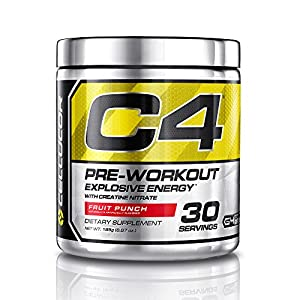Cellucor, C4 Pre Workout (Old Formula) Supplements with Creatine, Nitric Oxide, Beta Alanine and Energy, G4v1, 30 Servings, Fruit Punch