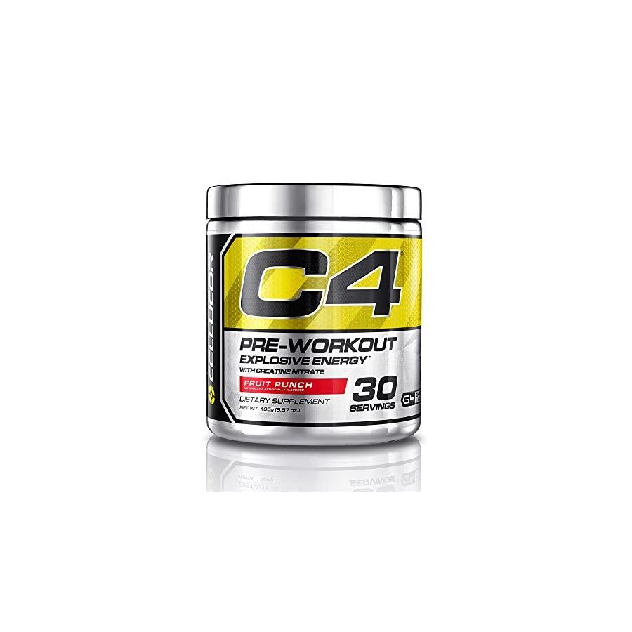 Cellucor C4 Pre Workout Supplement, Creatine Nitrate, Nitric Oxide, Beta Alanine & Energy, 30 Servings, Fruit Punch, G4