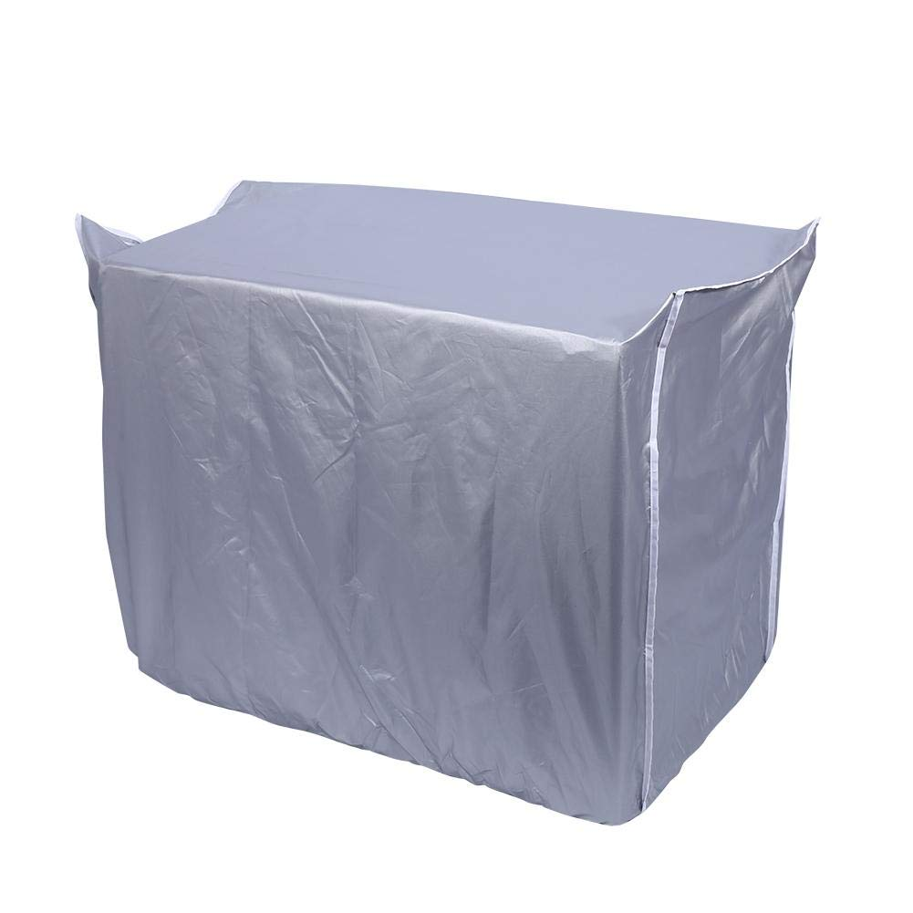 Air Conditioner Cover, Foldable Large Waterproof Cloth Fabric, Sun Proof Dust Proof Cover Snow Proof Air Conditioner Protector Eboxer