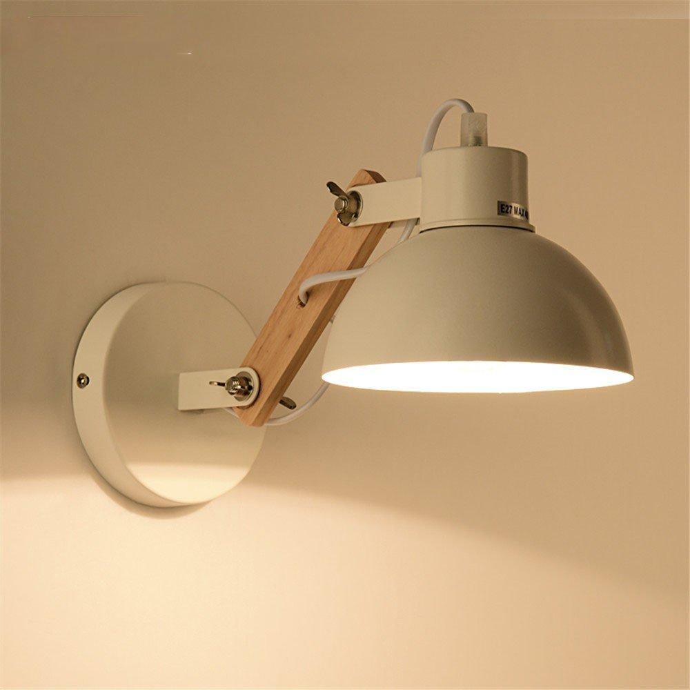 ZhuoYuan moderno da parete Il Nordic lampada in legno creative hotel ...