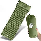 Legit Camping Sleeping Pad Camping Mat by The Most Comfortable Sleeping Mat and Pillow - Rolls Up Tight - Air Support Cells Transform Your Camping Mattress and Camping Pillow - Best Outdoor Sleep Ev