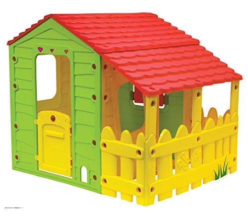 Dehner Kinderspielhaus Farm, ca. 146 x 118 x 127 cm, Kunststoff, bunt
