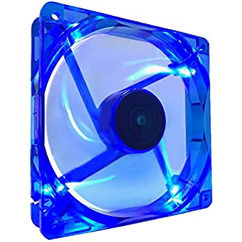 Apevia 14SL-BL 140mm 4pin Molex + 3pin Motherboard Silent Blue LED Case Fan, Connecting to Power Supply or Motherboard