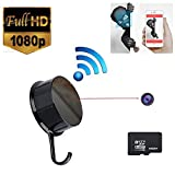 Libest 1920x1080P HD WiFi Clothes Hook House Security Network Hidden Camera Wireless Digital Video Recorder Motion Activated Nanny Cams for iPhone Android APP Remote View 7/24 Hours Working