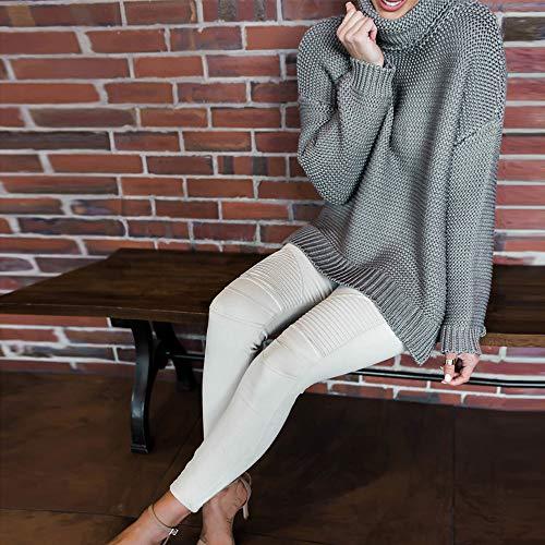 xl Collant Slim Elasticizzato Alta Qinmm Fitness Skinny Leggings Leggings Bianco Pantaloni Vita Jeans Bianco Donne ZYqnwwf7xF