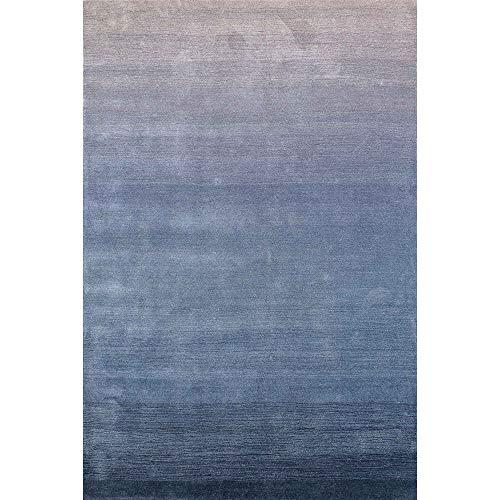 Liora Manne ACA57920633 ARCA Ombre Wool Indoor Rug Denim Navy and Blue 5' X 7'6