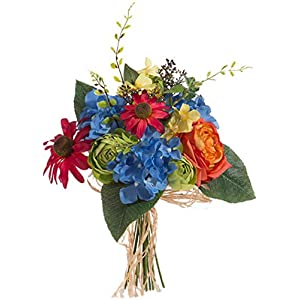 RAZ Imports Colorful Wildflower Artificial Flower Bundle - 15 inch 89