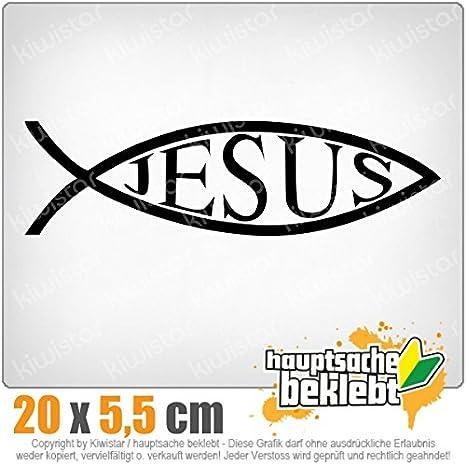 Jesus Fisch 20 X 6 Cm In 15 Farben Neon Chrom Sticker Aufkleber Auto
