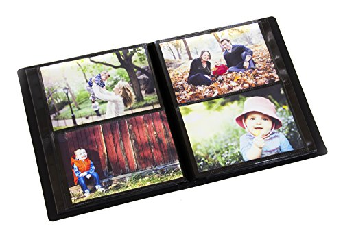 Holds 200 Photos - Portfolio Photo Album Holds 200 Pictures - 4x6 Inch/Space Saver Album with Protective Poly Case