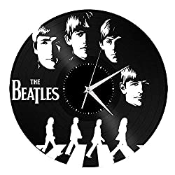 VinylShopUS - Beatles Vinyl Wall Clock Music Bands and Musicians Themed Travel Souvenir Unique Gift Home and Office | Room Decoration