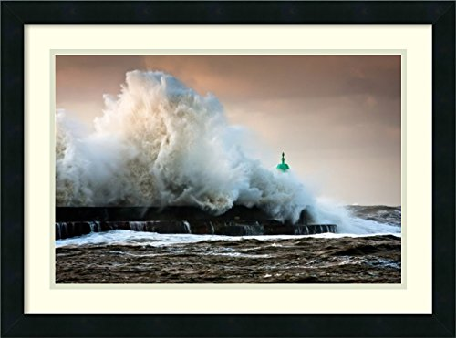 Framed Art Print 'The Wall' by Niels Christian Wulff by Amanti Art