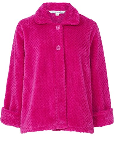 slenderella-pink-24-long-sleeve-waffle-fleece-bed-jacket-bj6325-large