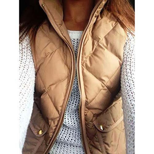 Jacket Donna Winter Vest Gilet New Caldo Women Cheyuan Fashion Cachi Sleeveless Slim Coats fz4YSw